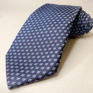 Robert Talbott Tie Blue Diamond Geometric New